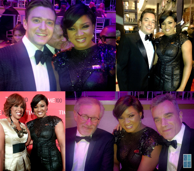 Omotola With Fellow Honorees