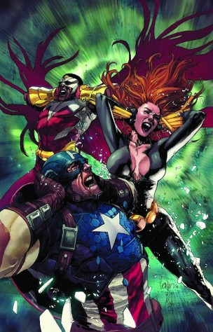 Cover art to Avengers #15 by Leinil Yu