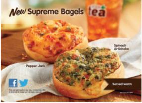 supreme bagel dunkin