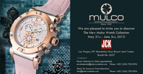 Mulco Watches To Exhibit At Acclaimed Jck Las Vegas Show
