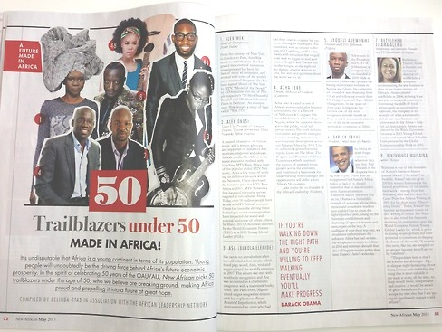 50 Trailblazers Under 50 by New African Magazine, UK