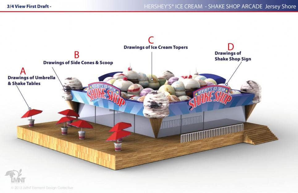 Shake Shoppe Arcade - Design Prior To Opening May 27, 2013