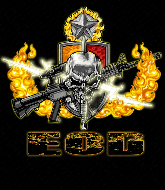 767th eod military unit shirts released at vision strike for Custom military unit t shirts