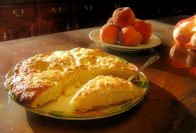 Peach Scones and Palisade Peaches from Willow Pond Bed and Breakfast of Colorado