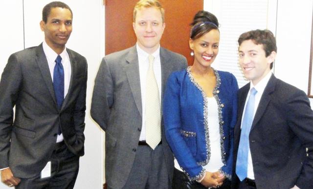 Sophia Bekele with Senate Committee Staff