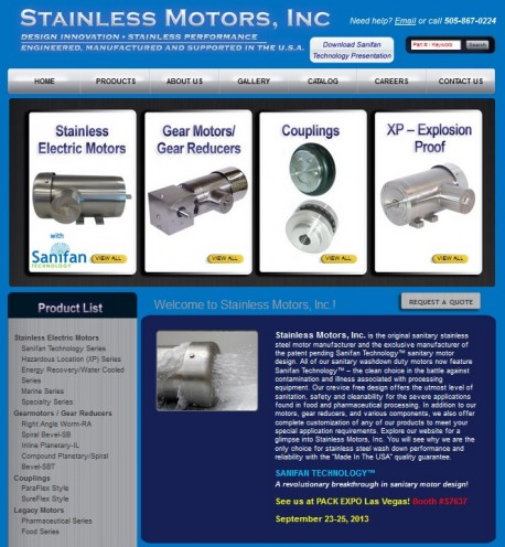 Electric Motor Manufacturers Stainless Motors Expands