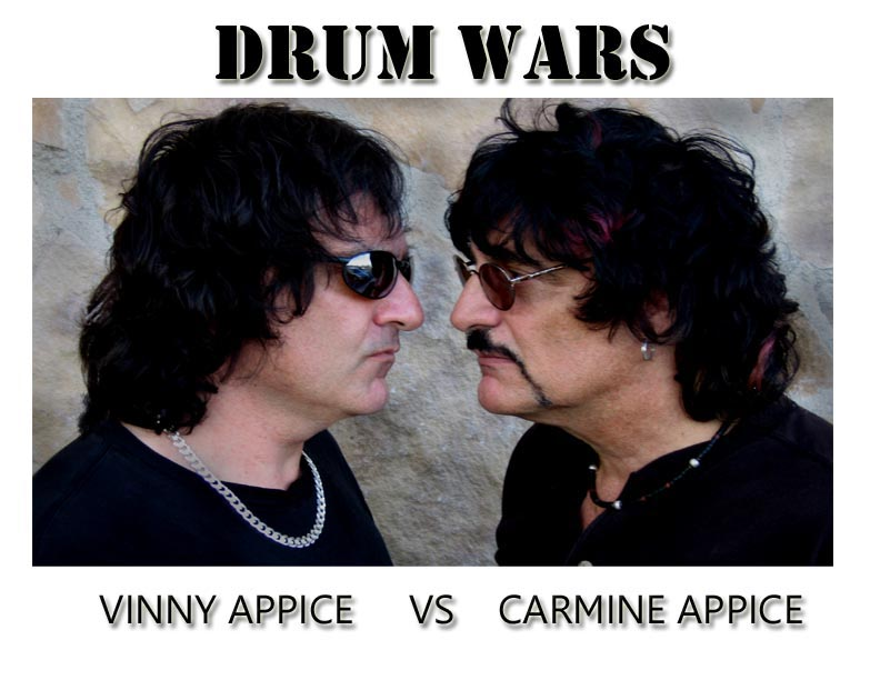 Image result for Vinny & Carmine Appice DRUM WARS: Brothers Drum Battle images
