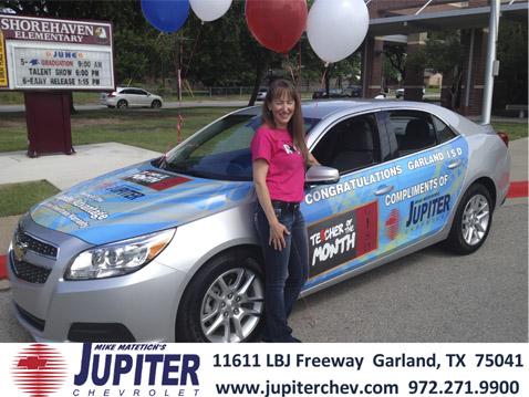 Jupiter Chevrolet Presents Chevy To Garlandu0027s Teacher Of The Month Julie  Grimes