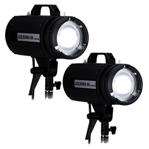 Led Studio Lights India: LED200WA-56 Daylight Spot Hard LED Studio 2-Light Kit For