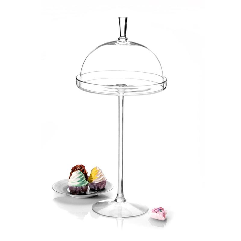 Glass Footed Tall Cake Stand with Dome  sc 1 st  PRLog & Classic Hostess Introduces New Crystal and Glass Cake Plates with ...