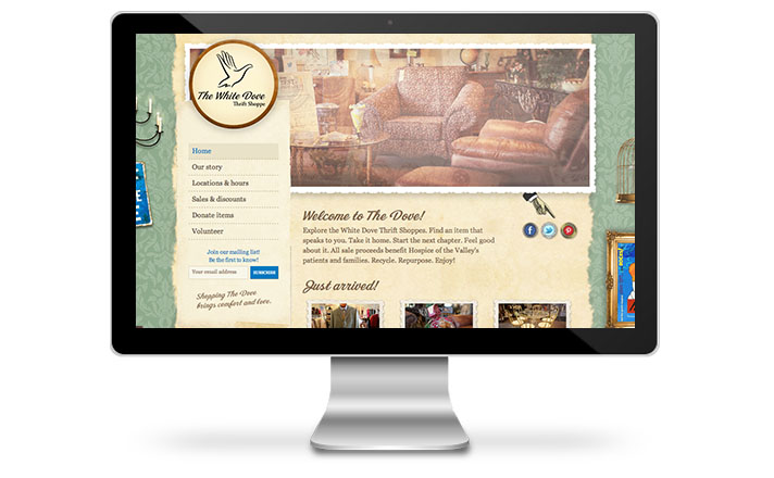 I-ology Launches Website for Hospice Of The Valley's White Dove Thrift Shoppe