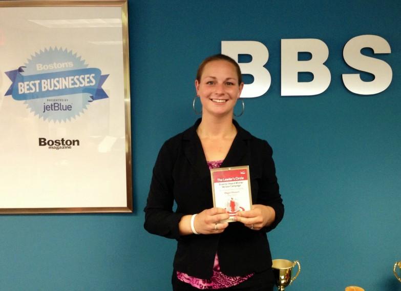 Megan Rheault with her Award