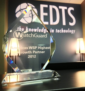 EDTS Honored as Highest-Growth Partner by WatchGuard
