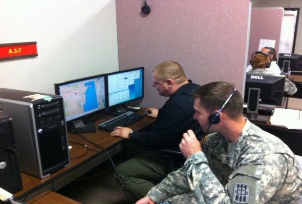 TMI associate operates a JCATS workstation for student from ADA Captain's Course