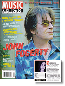 Music Connection magazine July 2013 praises Amy and new songs from Vocalessence