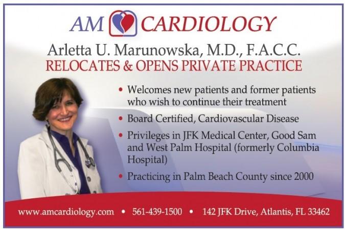 "Dr. Arletta Marunowska, Cardiologist, Opens Private Practice ""AM Cardiology"""