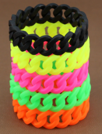 Silicone Chain Link Bracelet Wristband Bangle Twis