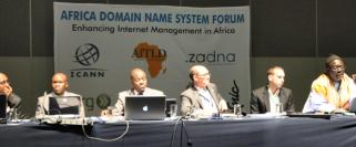 Mr. Gideon Rop, at the DNS Forum Panel, Durban, SA