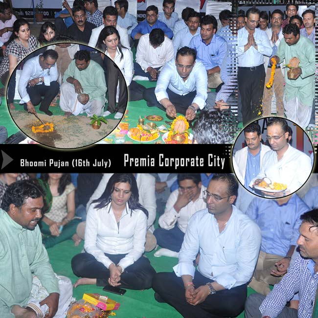 Bhoomi Pujan - Premia Corporate City on 16th July 2013
