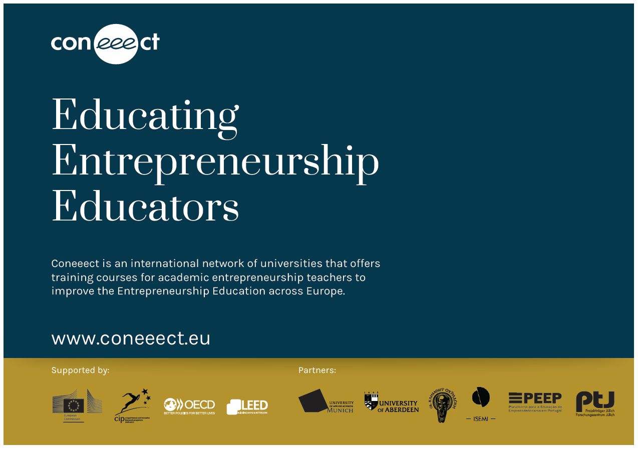 The Coneeect project offers trainings for European entrepreneurship teachers.