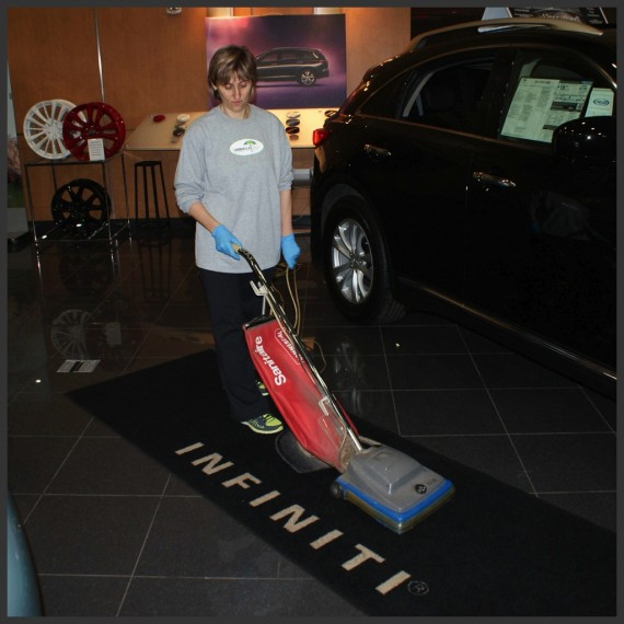 UmbrellaOne provides janitorial services such as floor care and high dusting.