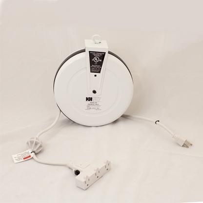 KH 10 amp/125 VAC White Duty Retractable Cord Reel, Model # CRA-B515-T16G-3