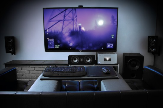 Steiger dynamics completes the living room gaming for Living room gaming pc