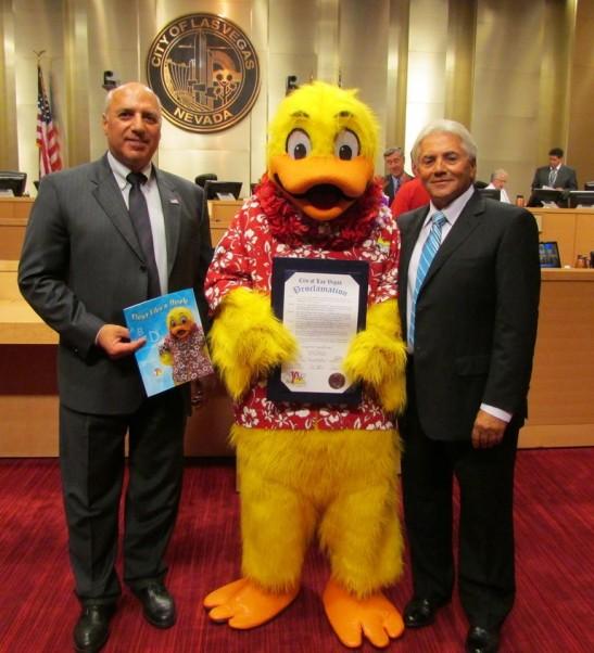 Mayor Protem Anthony presents Proclamation to Joseph M Vassallo, CBP