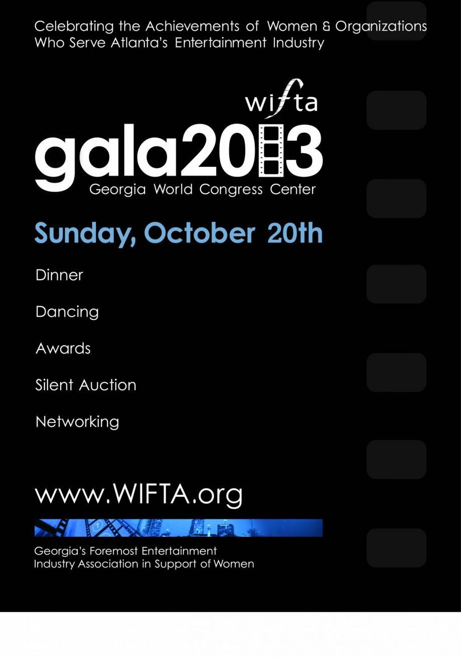 2013 WIFTA Gala & Awards Ceremony (save the date)