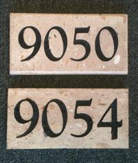 Cantera Address Stone Plaque / Marker by Striking Stone