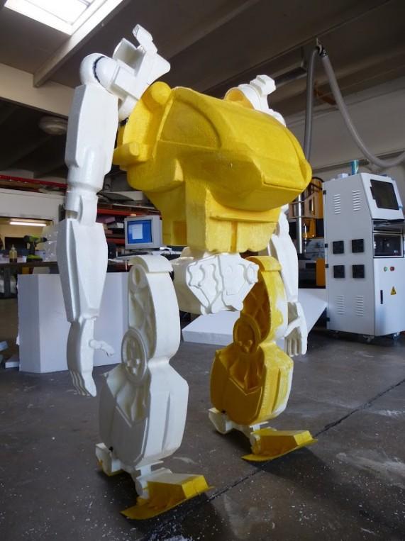 WeCutFoam Avatar robot prop machining
