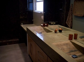 Sarche Concrete Design Delivers Exciting Bathroom Counters