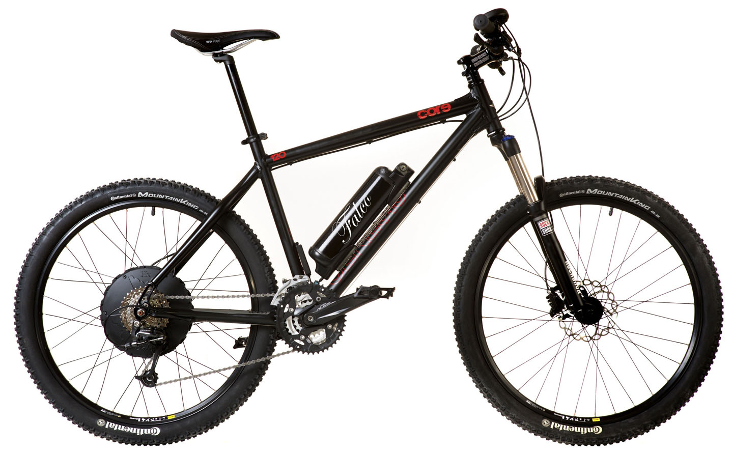 Falco 500W Propulsion System Installed on a Mountain Bike