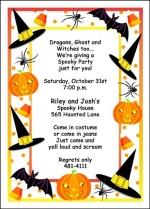Halloween Birthday Party Invitation For Kids And Adults