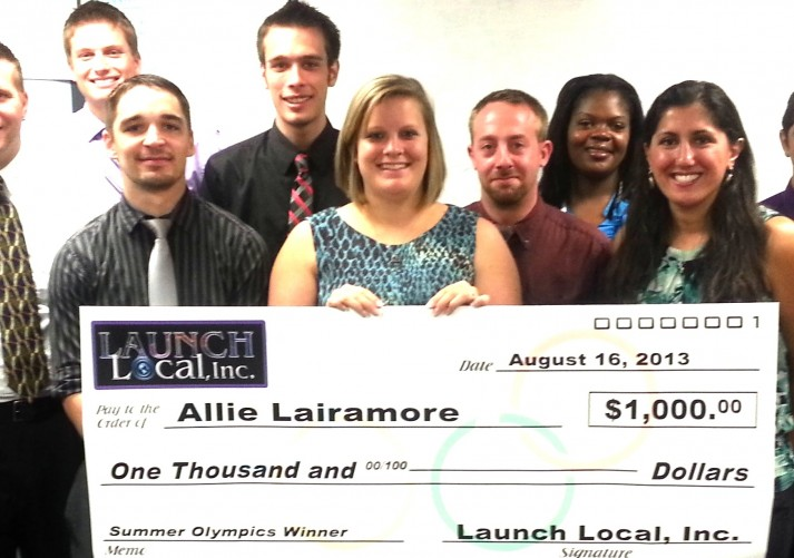 Allie Lairamore Award Winner 2013 Launch Local Summer Olympics