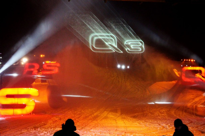 Audi Ice & Snow Experience China - with Laserworld