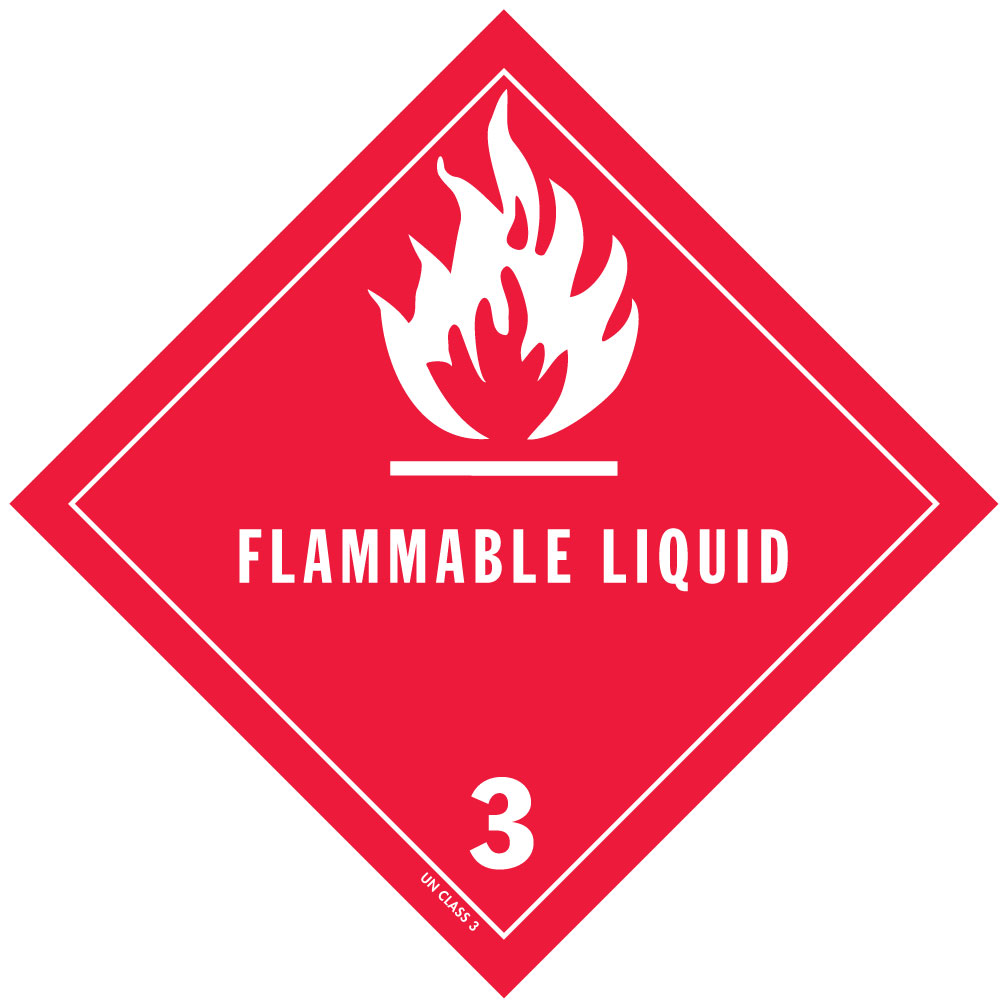hazmat class 3 label, label master, ra specialist, dangerous goods