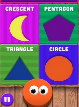 Screenshot of Learn Shapes App available on iTunes.