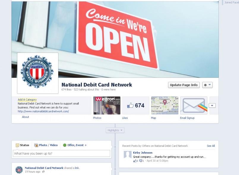 """Like"" National Debit Card Network on Facebook!"