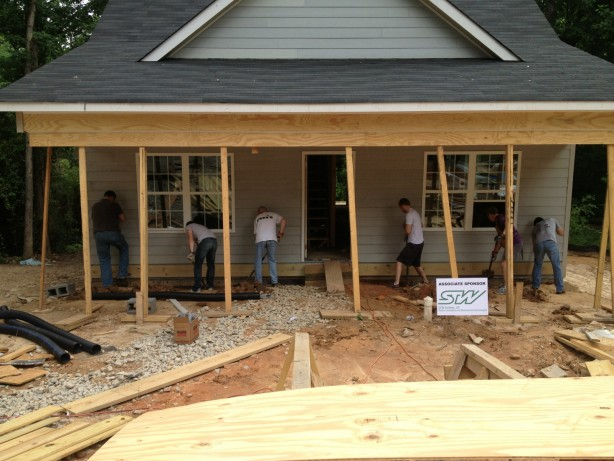 STW Employees at Habitat for Humanity Workday