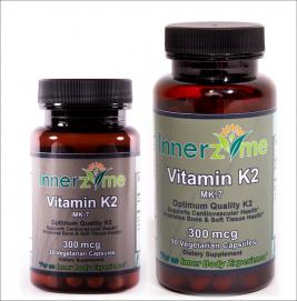 Innerzyme Vitamin K2, MK-7, 300 mcg Non-GMO, Natural (menaquinone-7)