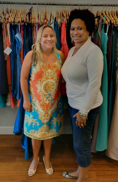 Mandi Jackson, owner of Bella Bridesmaid & Ebony White, Volunteer Coordinator