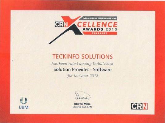 CRN Award 2013