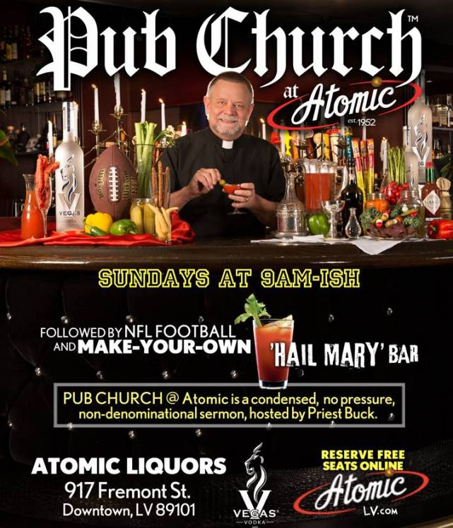Image result for church in a bar