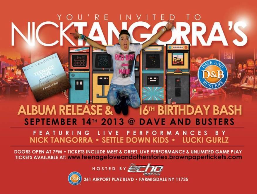 Invitation to Nicks NOT SO SWEET 16 Birthday Show Teenage Love