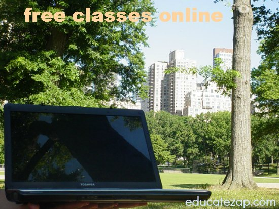 Free Classes Online by Laptop in Central Park - New York City