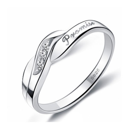 Custom Engraved Promise Ring for only $26