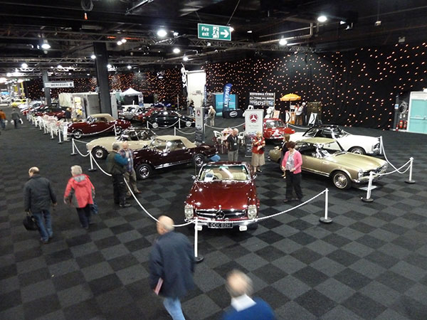 The Mercedes-Benz Club Stand at a previous Show at Event City