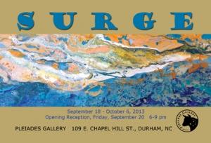 SURGE exhibit at Pleiades Gallery