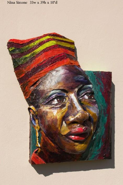 Nina Simone by artist Brett Stuart Wilson